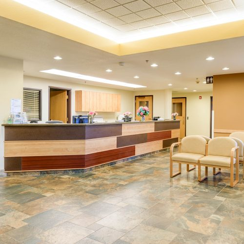 Brighton Salud Women's Clinic Remodel lobby