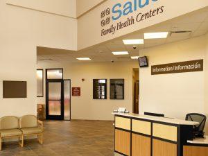 Commerce City Salud Renewable daylighting lobby