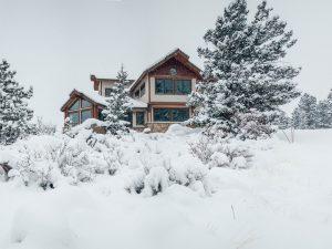 DePrez-Beck Off-Grid Residence Winter Exterior
