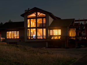 Beck Residence Remodel and Addition - nighttime