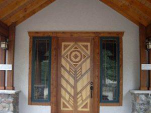 DePrez-Beck Off-Grid Residence - Front Door design T.W. Beck