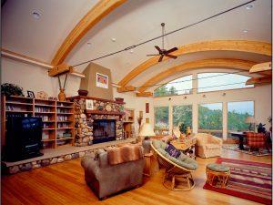 Catherine Krumme Residence - living room, fireplace