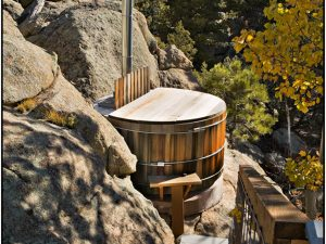 DePrez-Beck Off-Grid Residence Wood-Fired Hot Tub